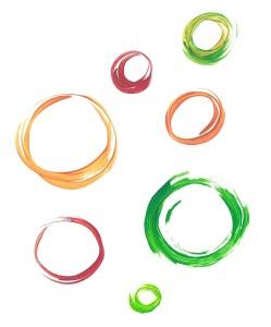 Sieben spielerische Kreise